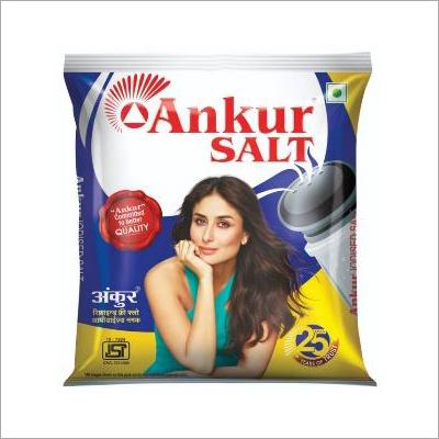 Ankur Iodised Salt Packaging: Plastic Packet