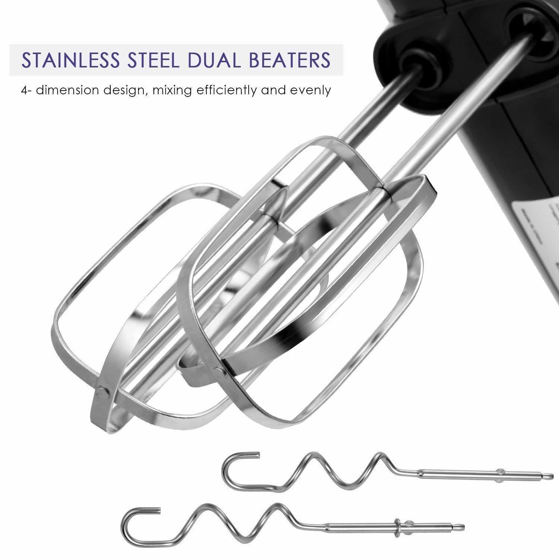 Electric Stainless Steel 300-watt Hand Mixer