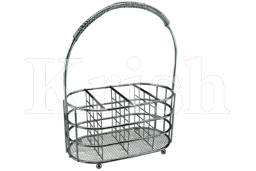 Wire Cutlery Caddy with Handle