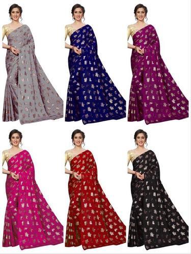 Rangoli silk saree with matty blouse