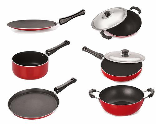 Nirlon Gas Compatible Non-Stick Aluminium Cookware Set