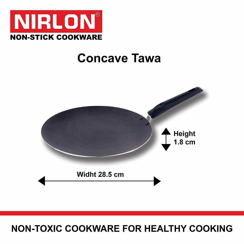 Nirlon Gas Compatible Non-Stick Aluminium Cookware Set