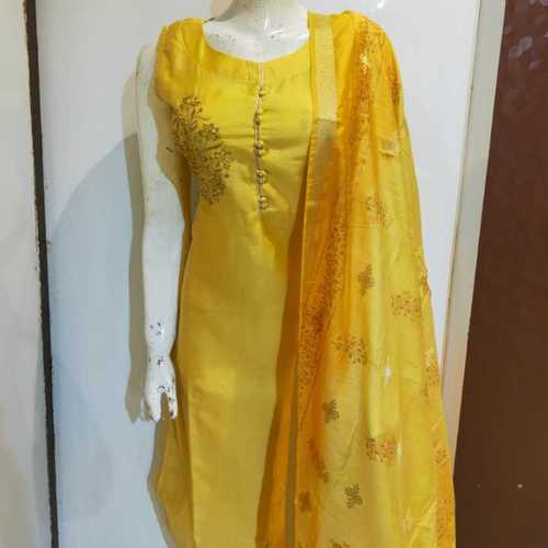 Yellow fancy kurti