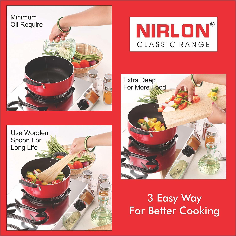 Nirlon Non-Stick Coated Grill Pan and Casserole