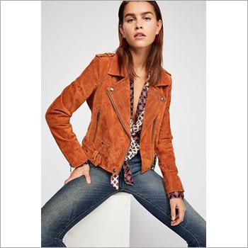 Ladies Brown Leather Jacket