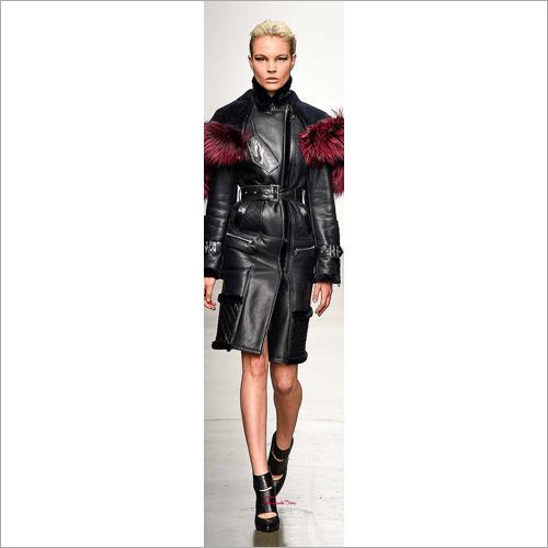 Ladies Full Length Leather Skirt