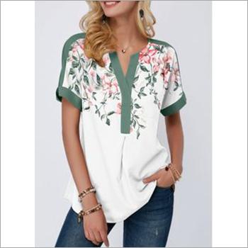 Ladies Printed Short Sleeve Top