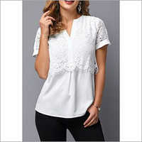 Ladies Upper Lace Short Sleeve Top