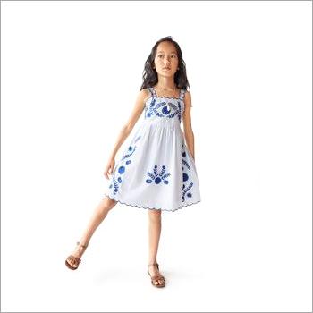 Girls Floral Short Sleeve Ruffle Dress