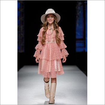 Girls Fashionable Ruffle Dress
