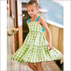 Girls Cotton Printed Sleeveless Dress