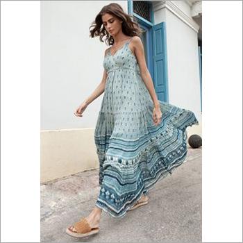 Ladies Sleeveless Long Summer Dress