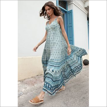 Ladies Sleeveless Long Summer Dress