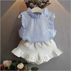 Toddler Girls Short Dress Set with Frills