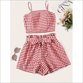 Toddler Girls Printed Mini Shorts Dress Sets