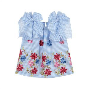Kids Floral Printed Top with Bows