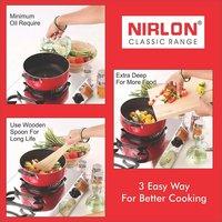 Nirlon Non-Stick Gas Compatible Kadhai and Casserole 2 Piece Cookware Set