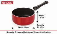 Nirlon Non-Stick Sauce Pan and Casserole 2 Piece Kitchen Utensil Set