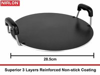 Nirlon Non-Stick Aluminium Cookware Set, 2-Pieces, Red (2.6mm_FT12_RT)
