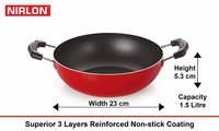 Nirlon Dishwsher Safe Non-Stick Combo Cookware Set