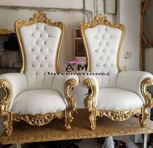 throne wooden chair
