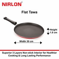Nirlon Non-Stick Aluminium Cookware Set, 3-Pieces