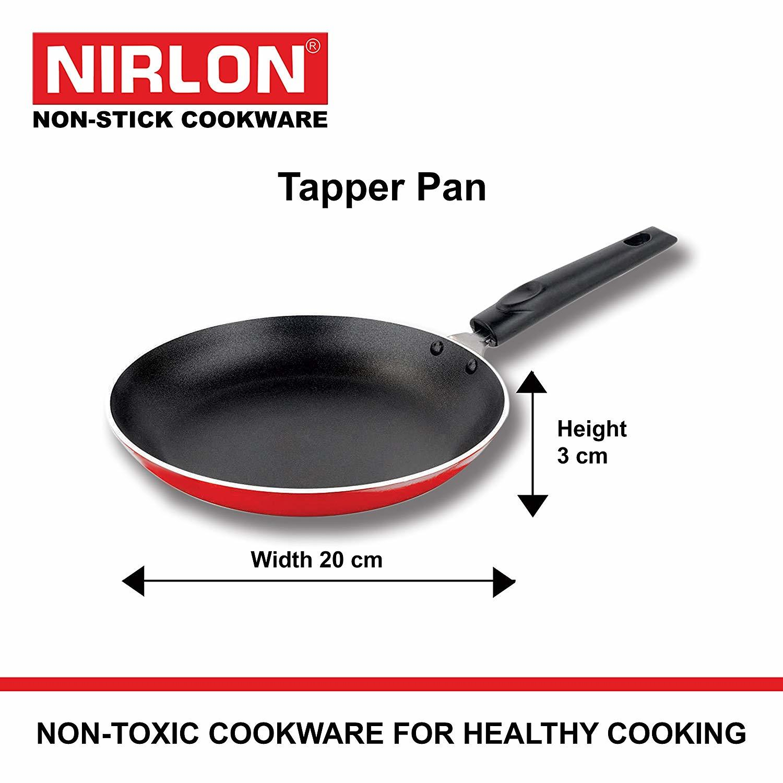 Nirlon Non-Stick Aluminium Cookware Set, 3-Pieces