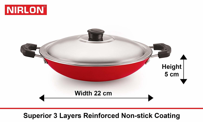 Nirlon Non-Stick Bpa Free Aluminium Kitchen Cooking Essential Set