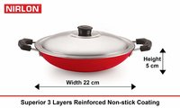 Nirlon Non-Stick Bpa Free Aluminium Kitchen Cooking Essential Set