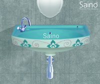 18 x 12 DESIGNER AQUA GREEN WASH BASIN