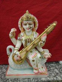 Marble Saraswati Status