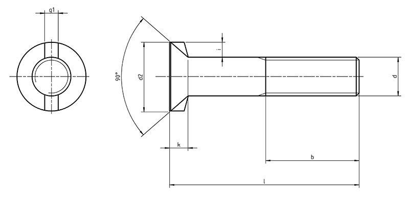 DIN 11014  Plough bolts