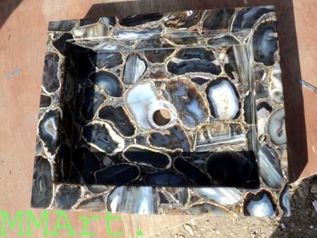Indian top wholesaler export of Gemstone washbasin