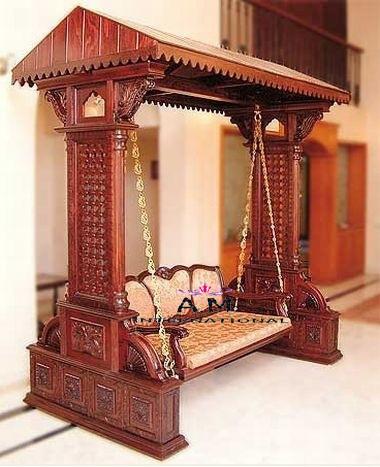 indoor wooden jhula