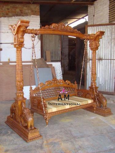 teak wood indoor  swing