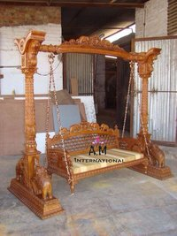 teak wood indoor  swing