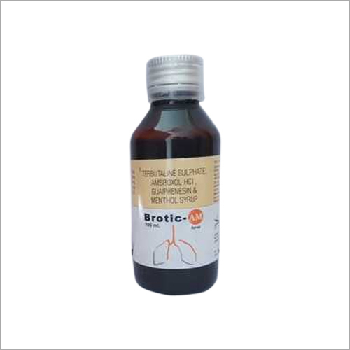Terbutaline Sulphate Ambroxol Hcl Guaiphenesin And Menthol Syrup
