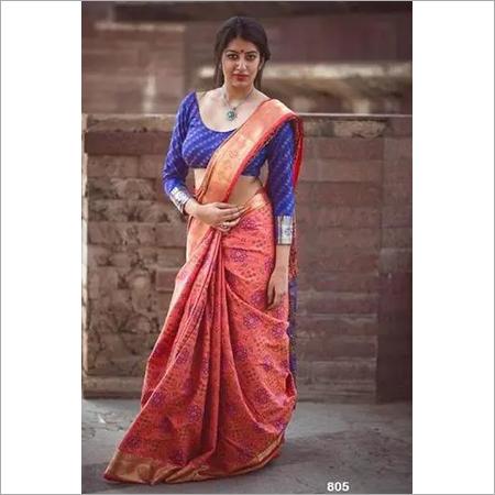 Banasari Soft Handloom Weaving Patola Saree