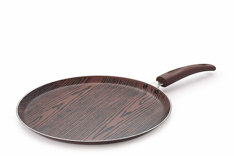 Nirlon Aluminium Nonstick Woody Cookware Set, 4-Pieces, Brown