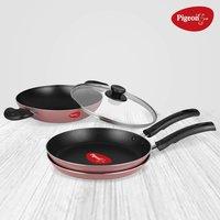 Pigeon by Stovekraft Basics Aluminium Nonstick Cookware Set