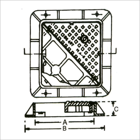 Double Triangular Manhole Cover