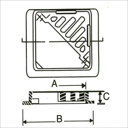 Double Triangular Grating Manhole Cover