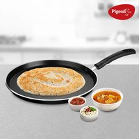 Pigeon by Stovekraft Special Non-Stick Aluminium Flat Tawa, 280mm, Black