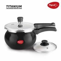Titanium Hard Anodised Aluminium Handi Pressure Cooker