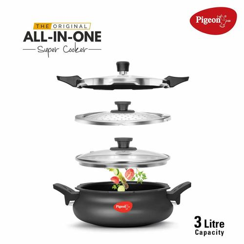 Pigeon By Stovekraft Belita Hard Anodized Super Cooker Set