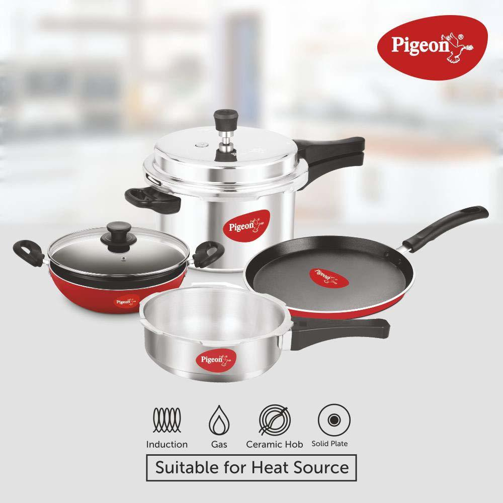 Pigeon by Stovekraft Induction Base 4-in-1 Starter Kit