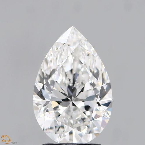 CVD Diamond 2.17ct G VVS2 pear Shape IGI Certified Stone