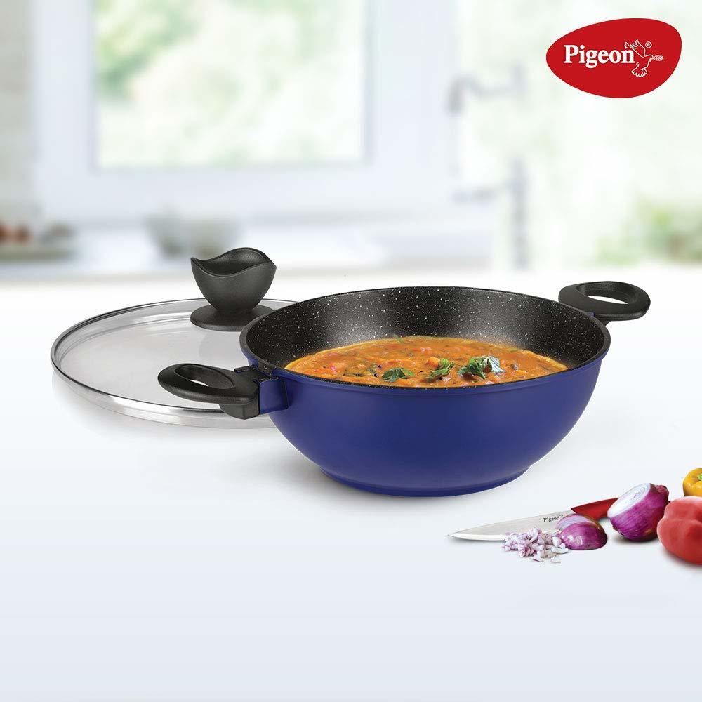Pigeon by Stovekraft Crest Non Stick Induction Base Kadai 240