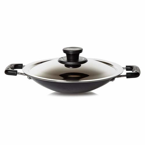 Pigeon by Stovekraft Non-Stick Appachetty with Lid, 20cm, Black