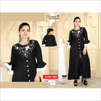 Ladies Round Neck Palazzo Suit